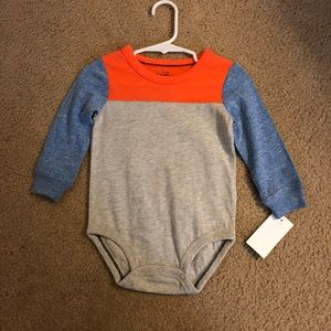 *NWT!* OshKosh, 12mo. Colorblock bodysuit